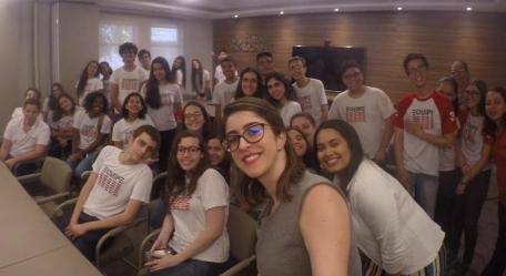 Alunos do Colégio Equipe visitam o escritório e são recepcionados por Gabriela Figueiras