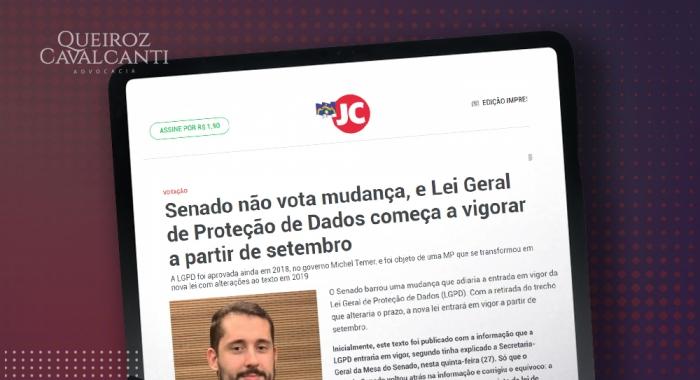 Senado não aprova mudança e a LGPD começa a valer a partir de setembro