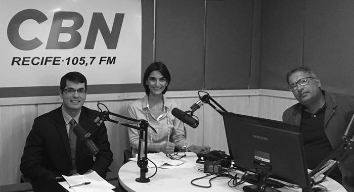Tiago de Andrade Lima e Marina Gadelha participam de debate na CBN Recife
