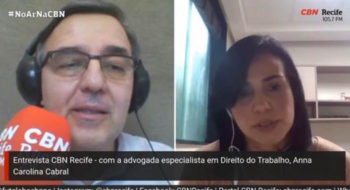 Anna Carolina Cabral fala sobre a medida provisória que prevê a redução da jornada de trabalho e salário em entrevista à Rádio CBN