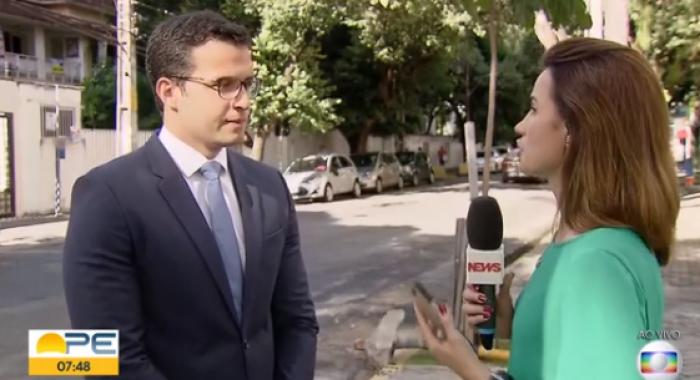 Rafael Accioly, foi entrevistado, ao vivo, no Bom Dia PE.